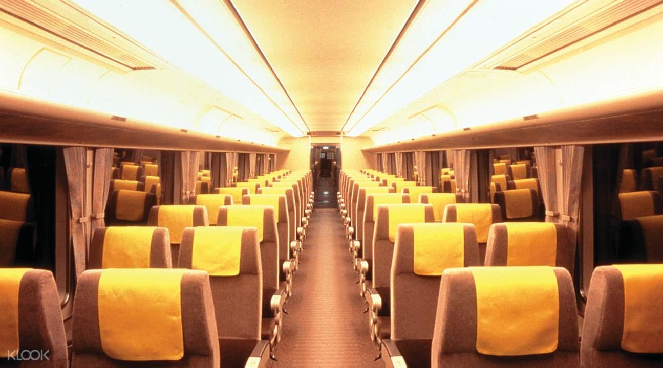 the Haruka Train's interiors