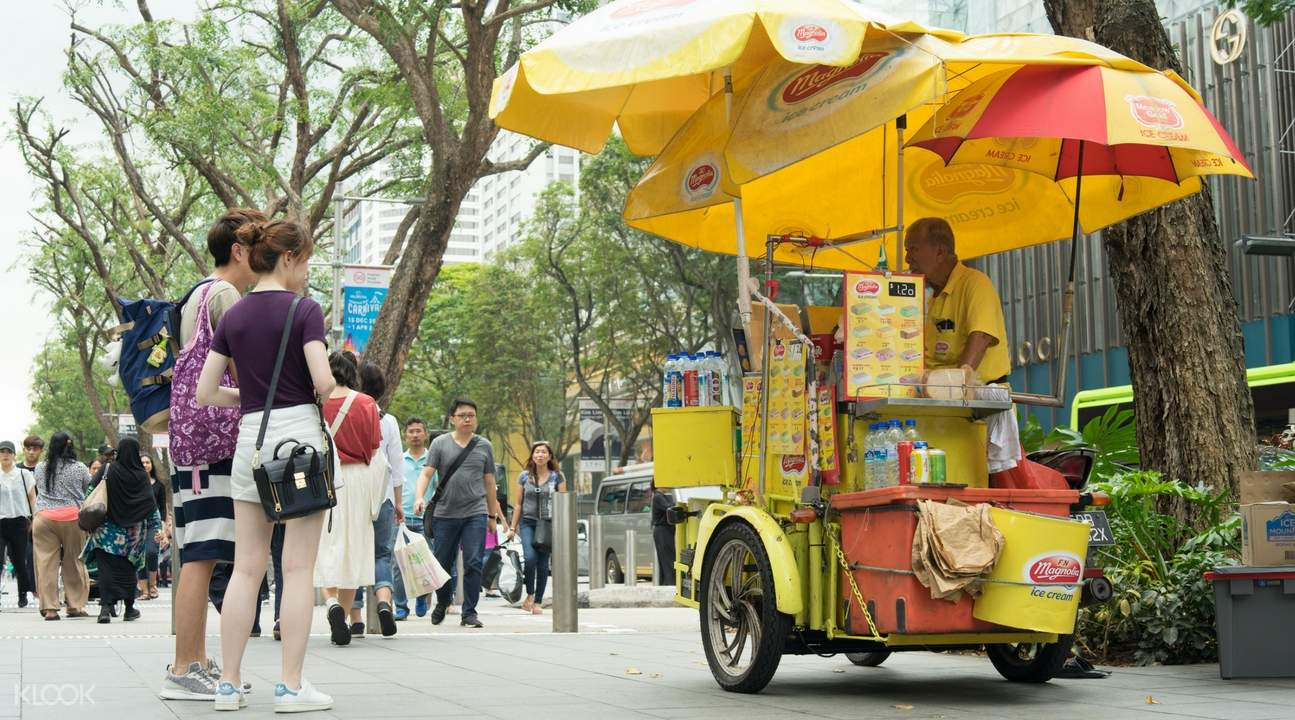 mobile ice cream cart ice cream uncles along orchard road singapore