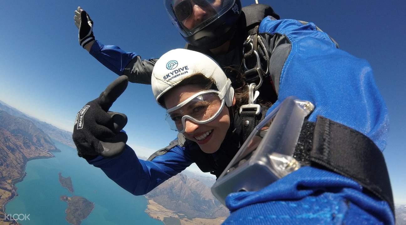 紐西蘭南阿爾卑斯山脈高空跳傘體驗