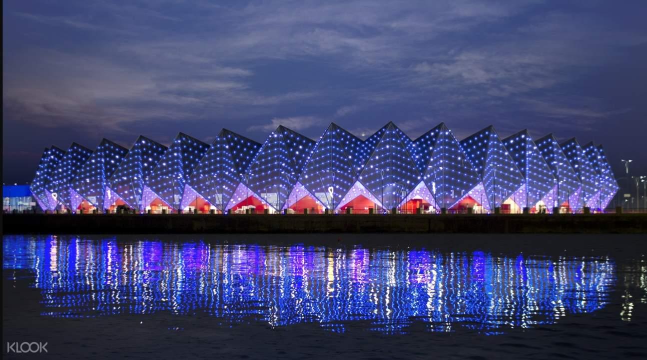 Baku's Crystal Hall at night
