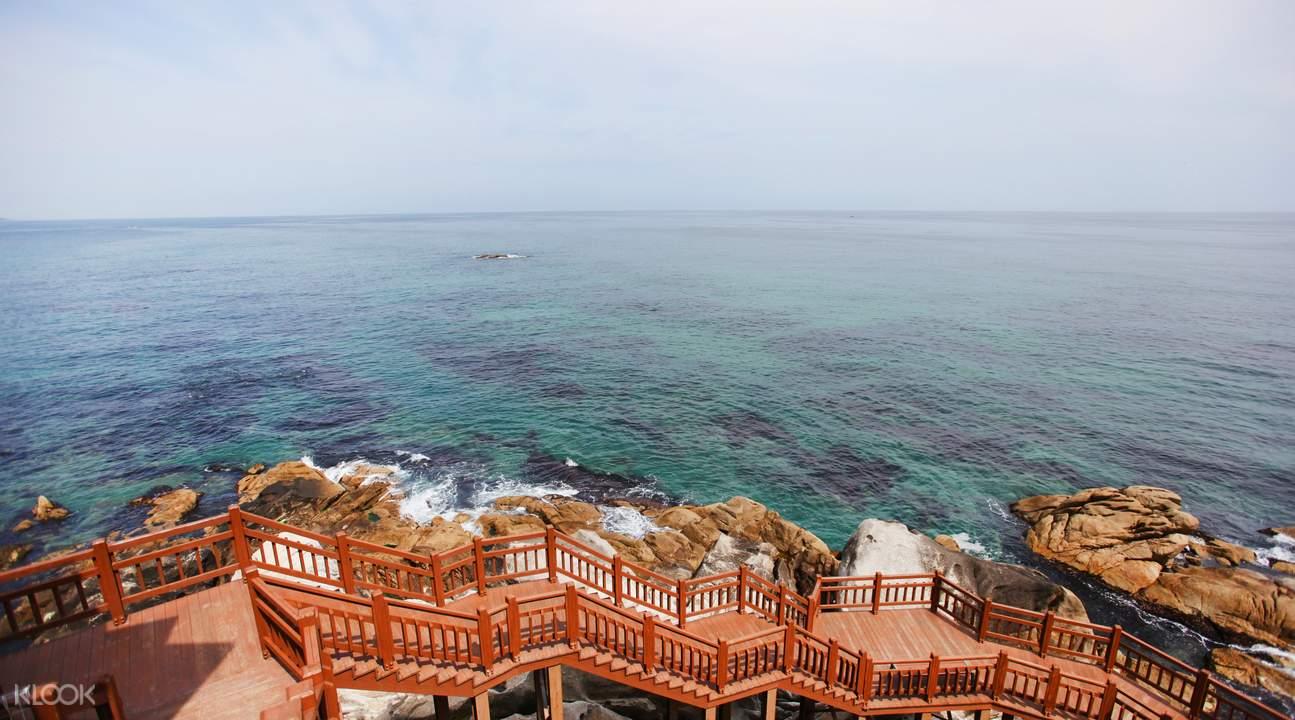 江陵海边观光