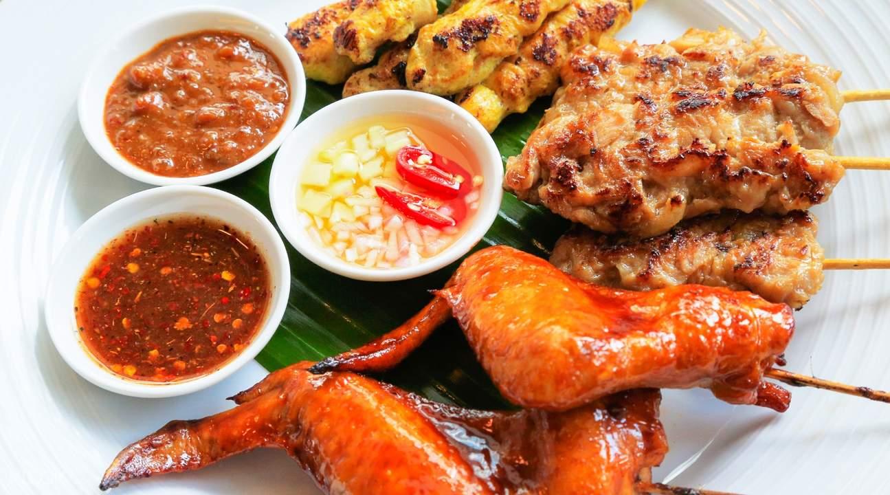 鸡肉沙嗲曼谷180空中酒吧