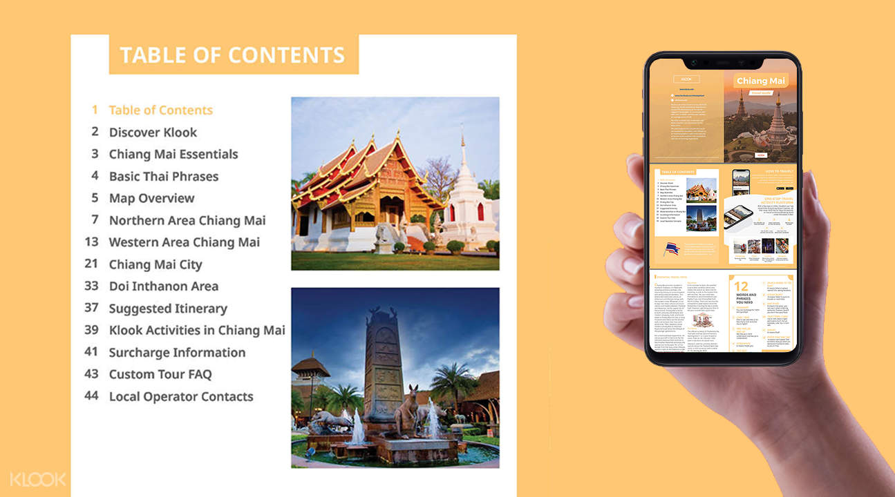 mobile brochure for the chiang mai custom tour