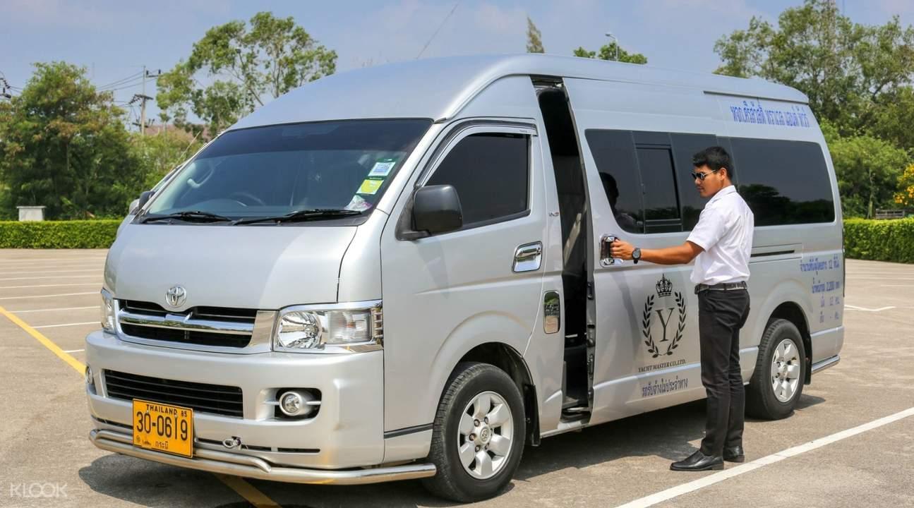 van for krabi night market tour