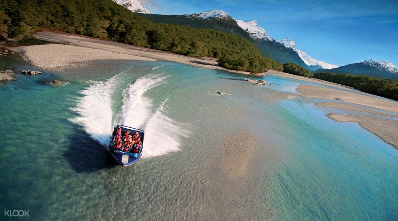 Jet boat dart river combo tour