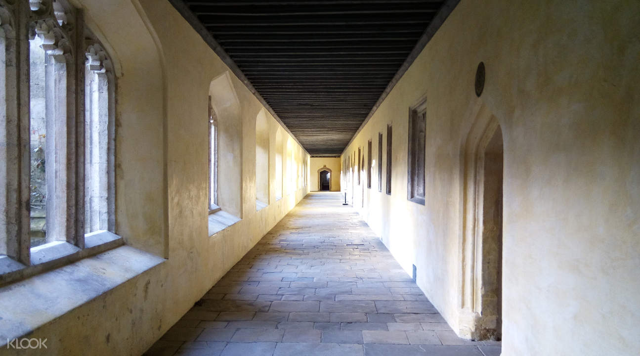 a hallway inside Magdalene College in Oxford