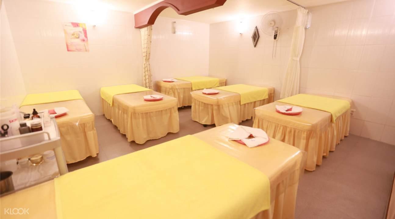 myeongdong traditional sauna room interior