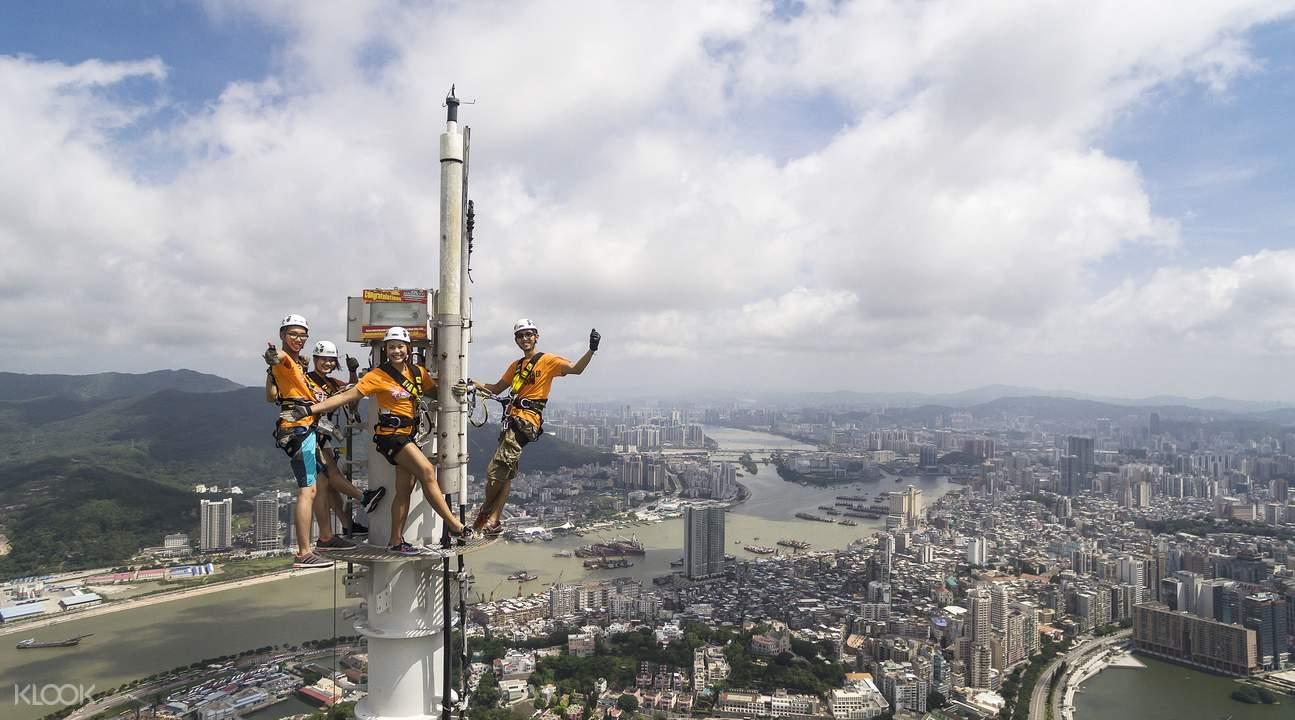 macau tower mast climb
