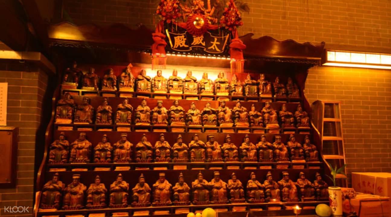 三太子和北帝廟的佛像