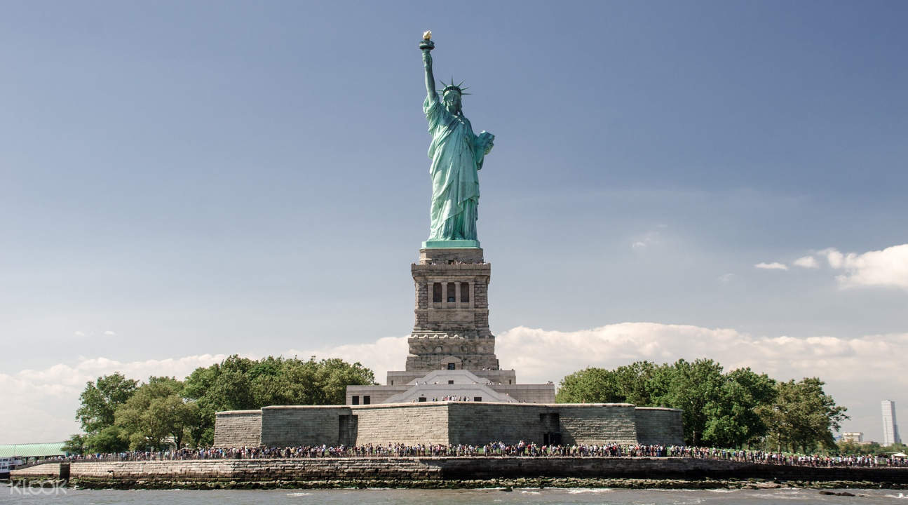Great views up close of the Statue of Liberty