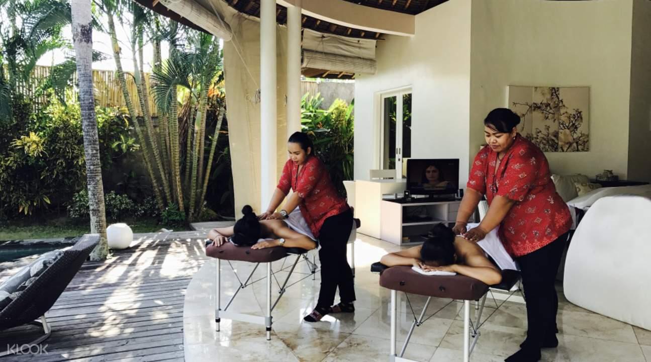 in villa spa and massage a la carte treatments