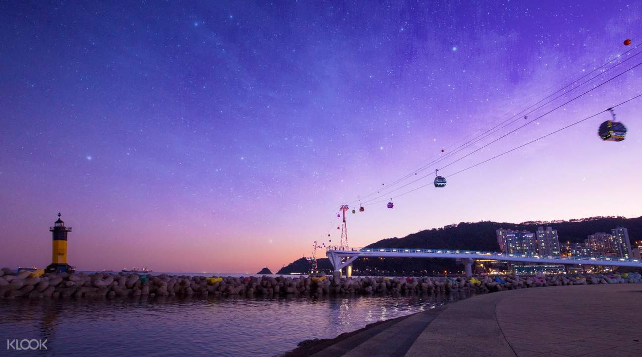 busan air cruise at night