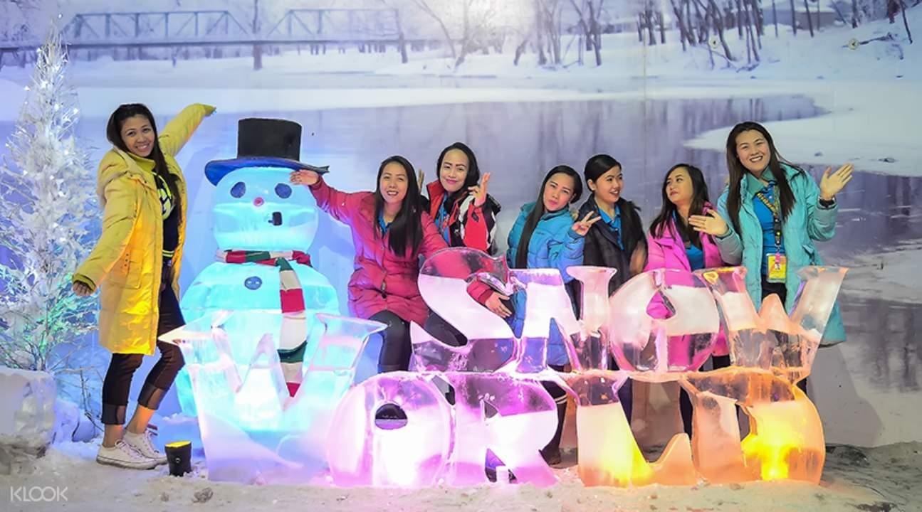 people in Snow World Cebu