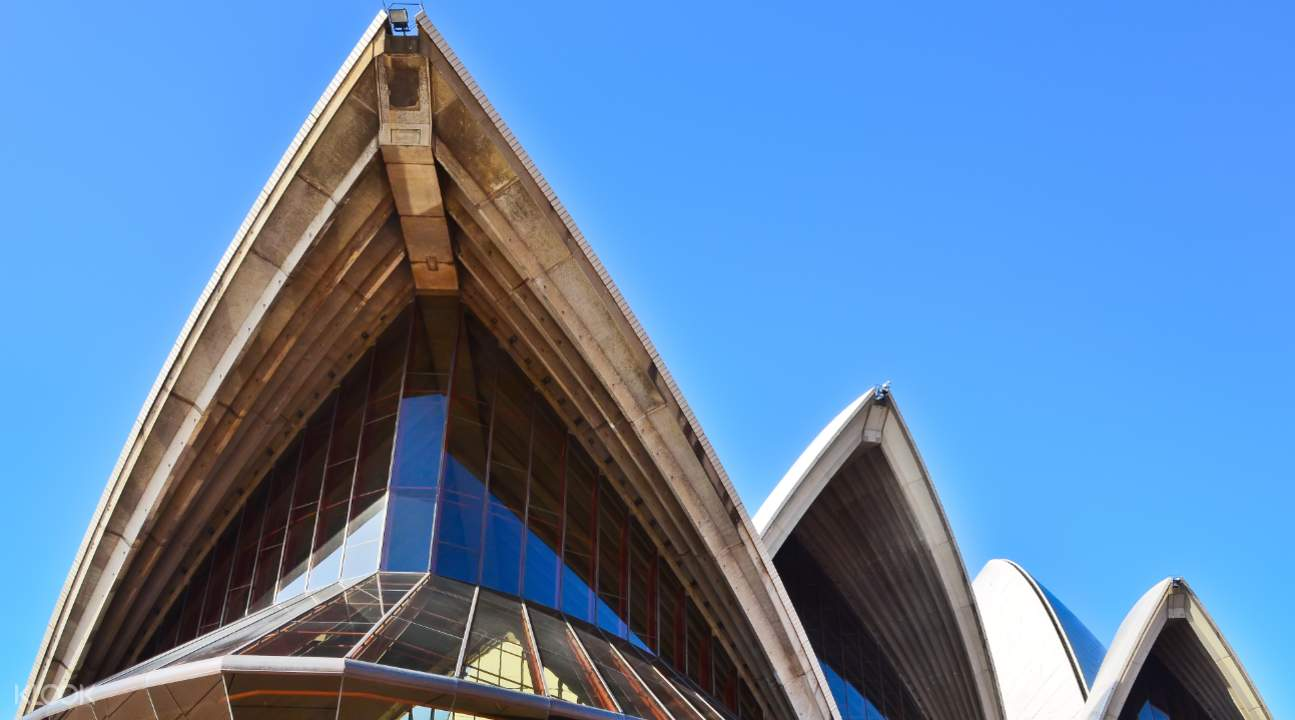 closer perspective of the Sydney Opera House