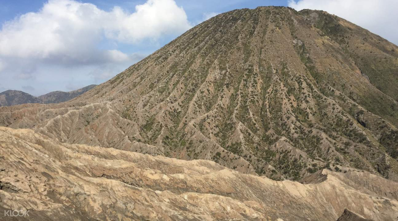 a picture of the side of mount bromo