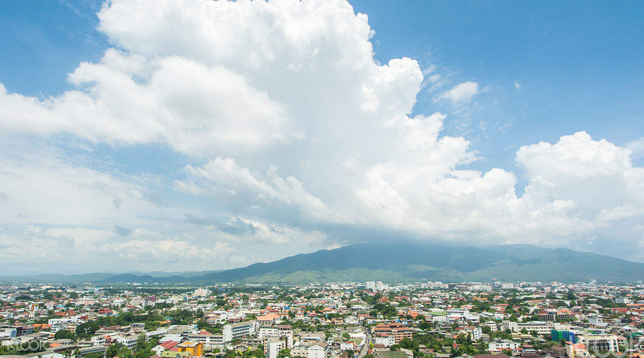 view from above of Chiang Mai