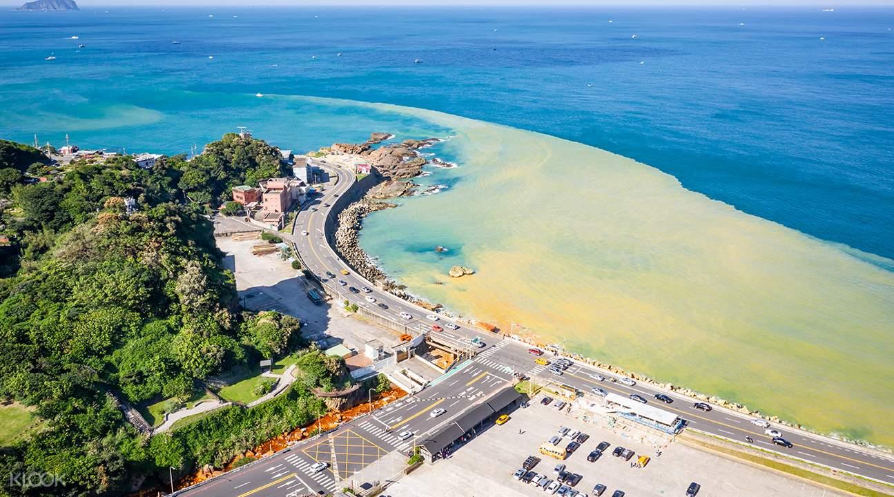 Yin Yang Sea birds eye view