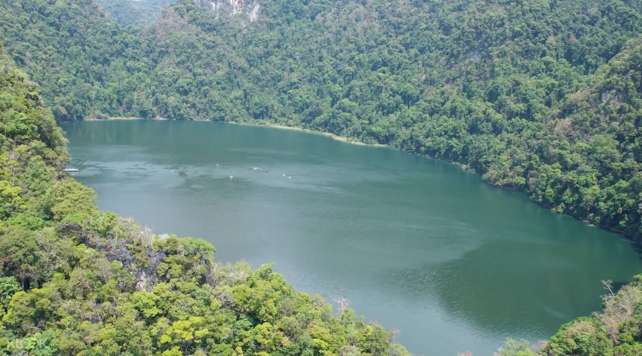 Aerial view of islands of Langkawi