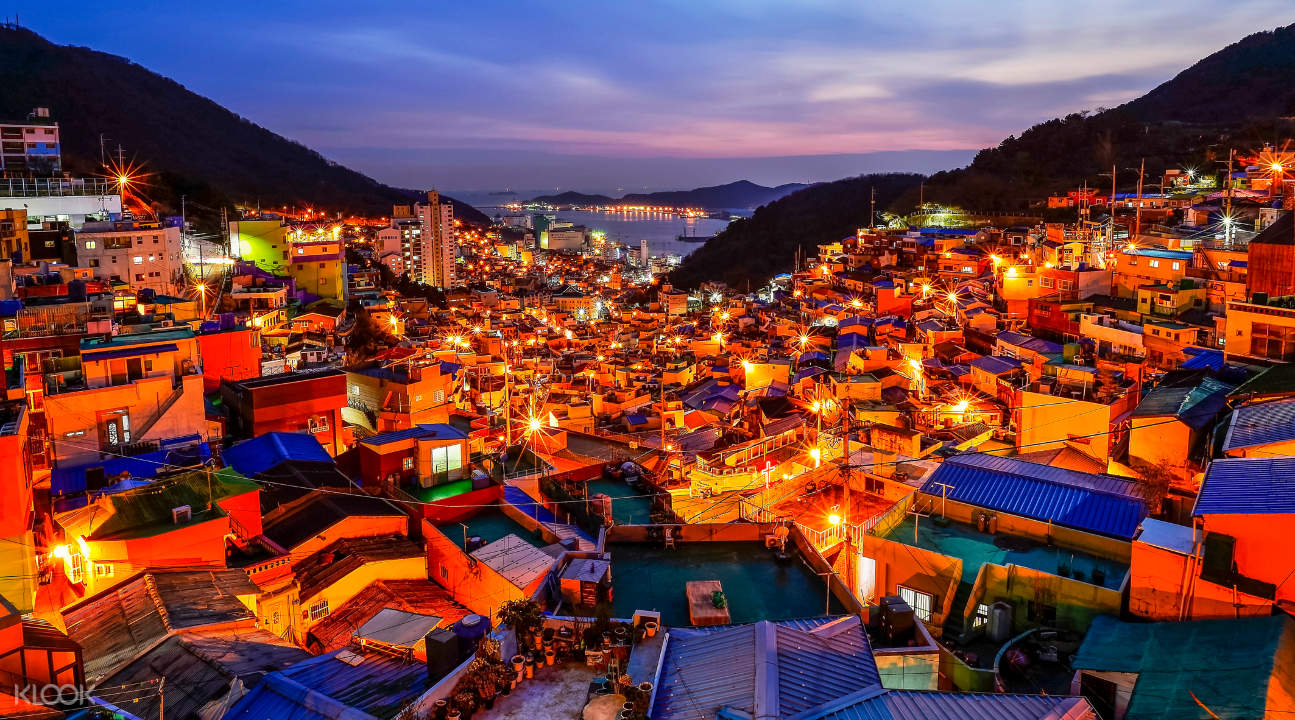Gamcheon Culture Village at dawn