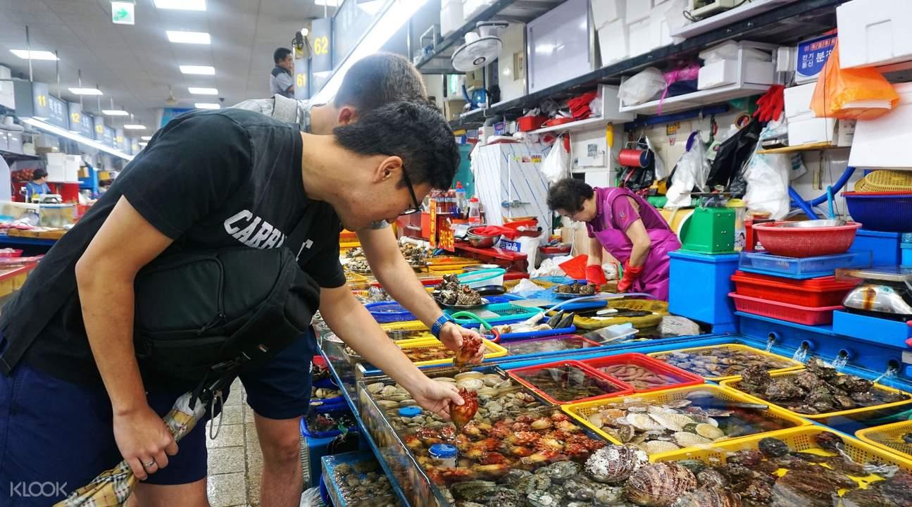 jagalchi bupyeong market cooking class experience busan