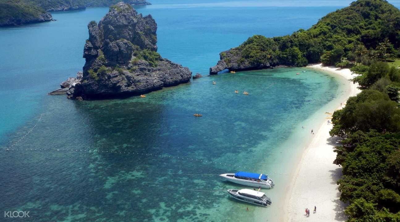 Aerial view of ang thong marine park