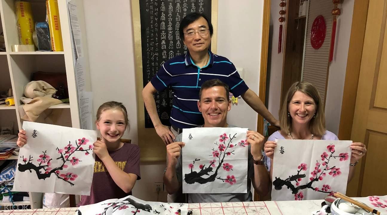 kelas chinese painting, kelas chinese painting shanghai, kelas chinese painting china