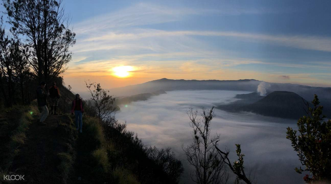 sea of clouds in mount bromo