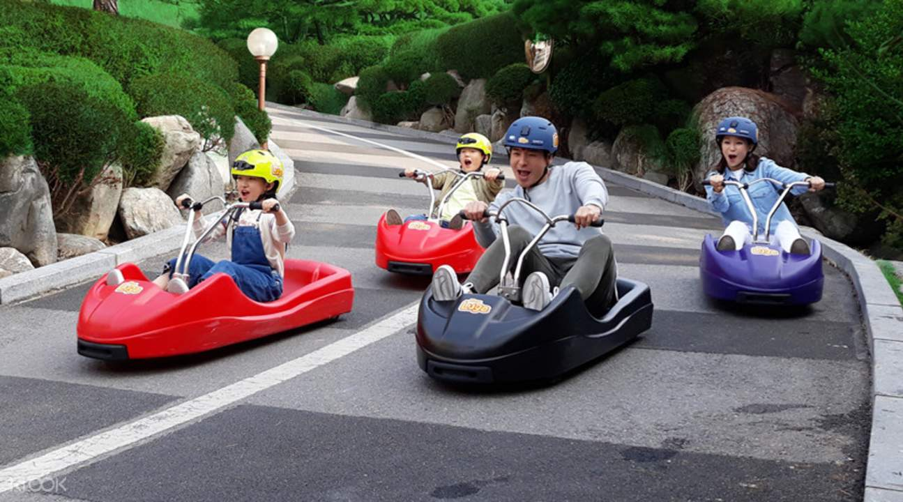 luge car racing with the entire family at the ganghwa seaside resort