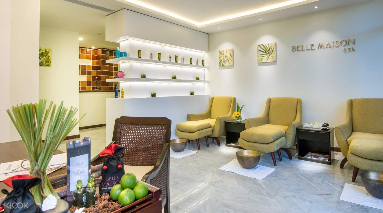 lobby of maison spa