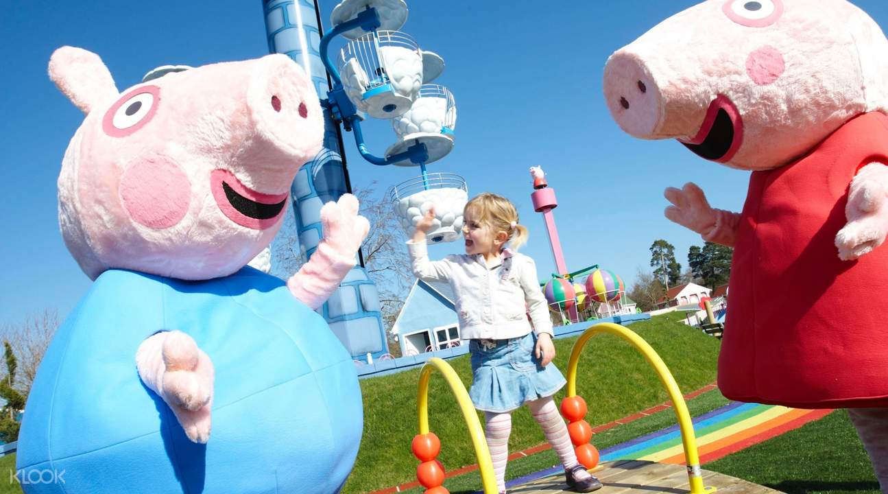 Peppa Pig and a little girl