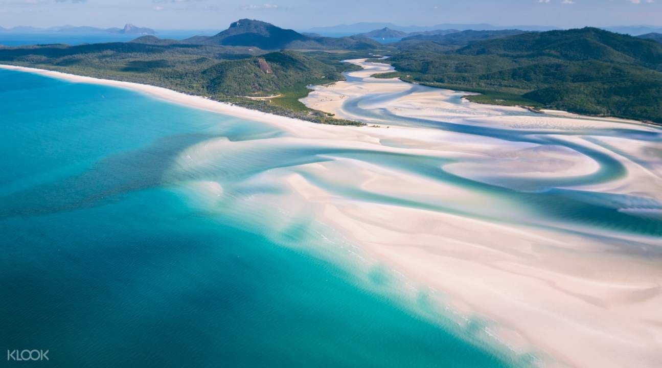 aerial view of whitehaven beach