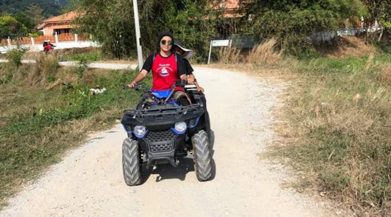 tourist enjoy the atv ride in langkawi