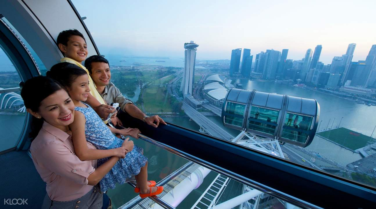 Singapore Flyer Gardens by the Bay view