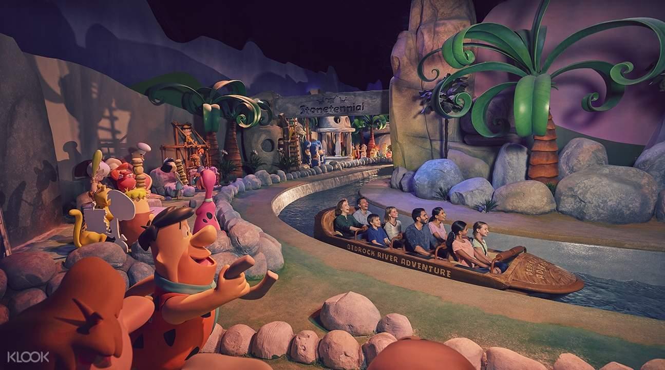 Flintstones at warner bros world in abu dhabi