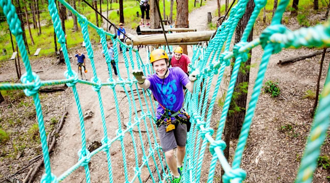 Kegiatan tali treetop challenge