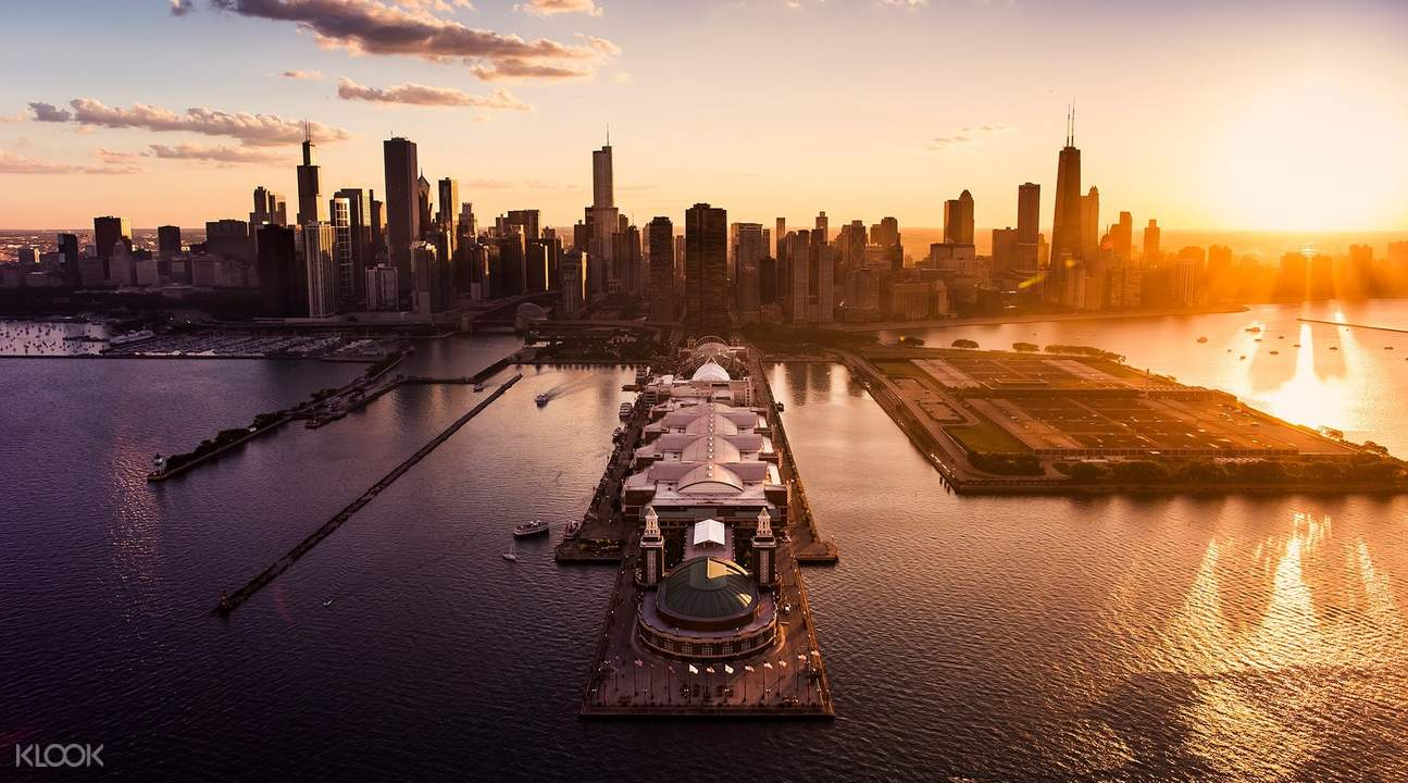 chicago helicopter tours twilight tour