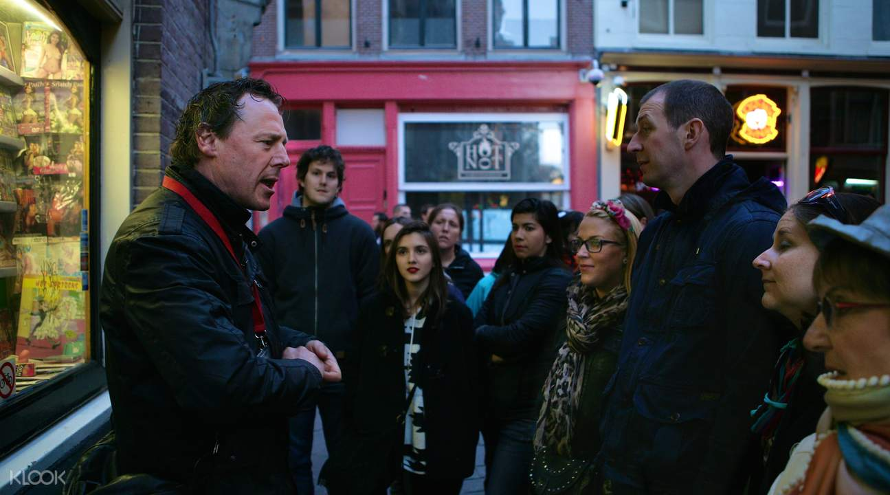 amsterdam red light district  tour guide