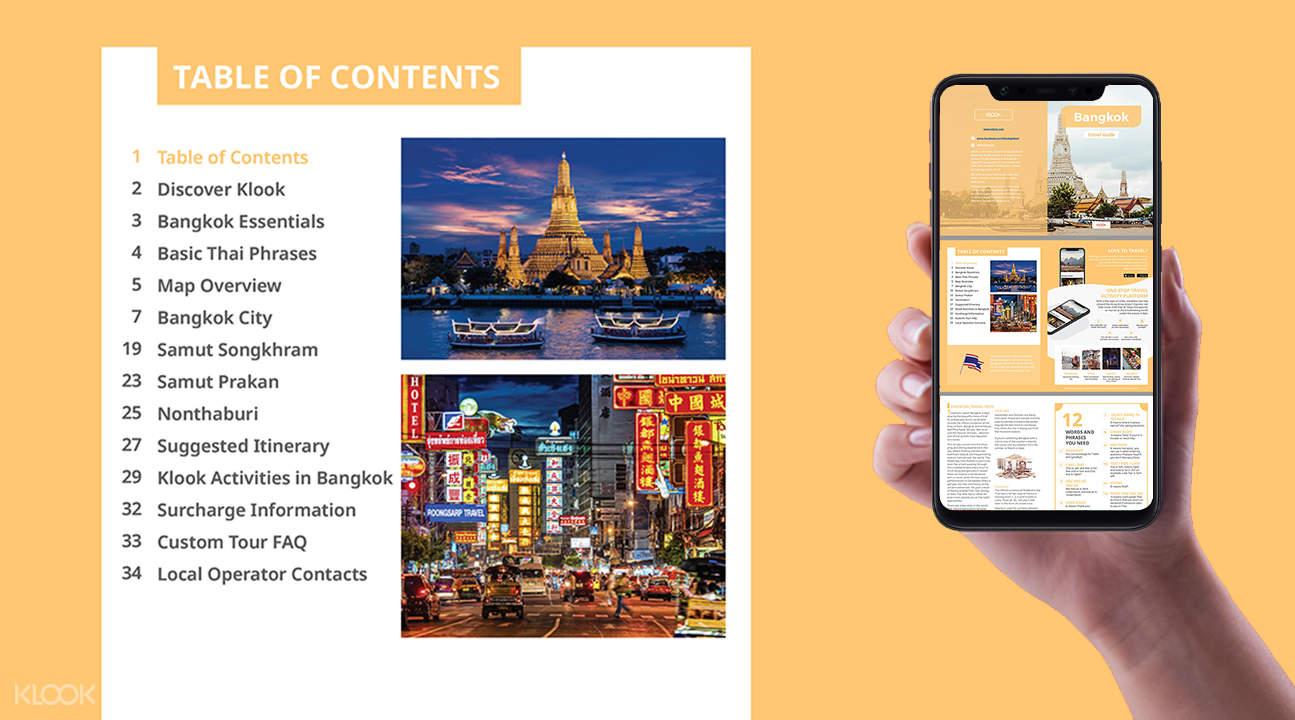 bangkok brochure for the bangkok custom tour