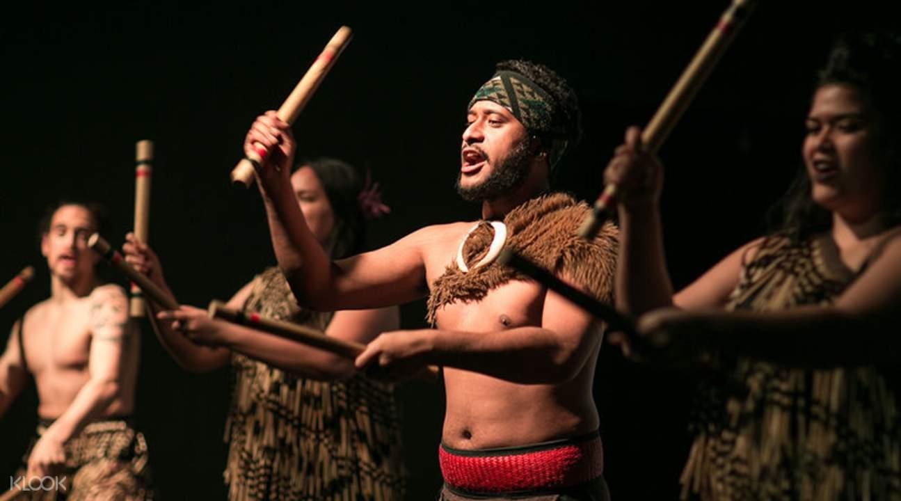 Māori people performing a cultural dance
