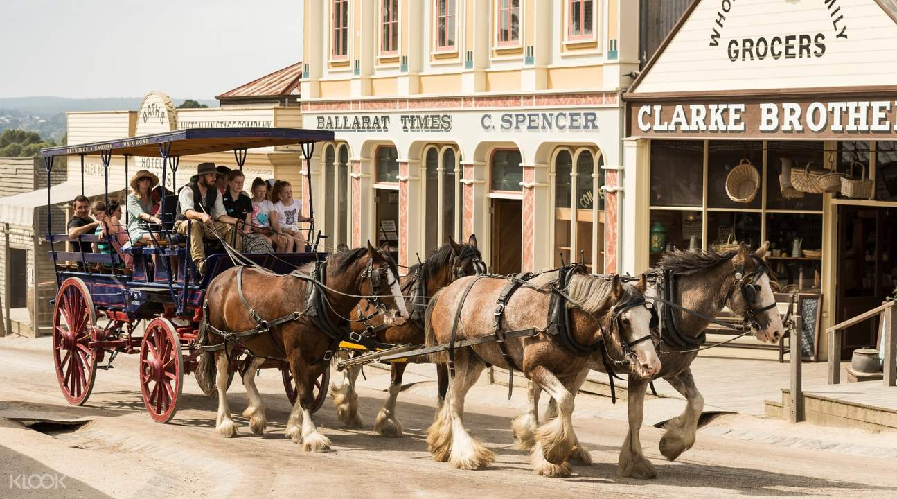horse drawn carriage in sovereign hill australia