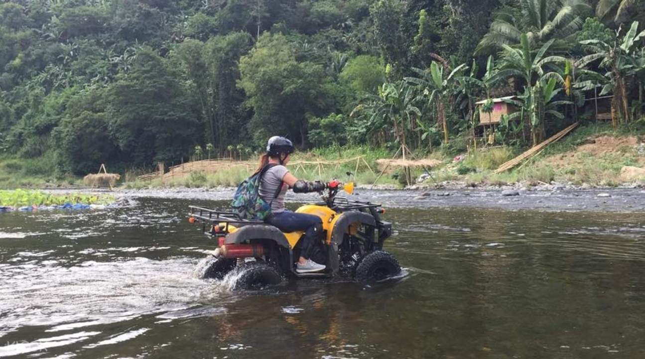 river crossing with an atv in rizal