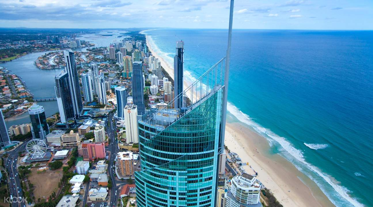 aerial view of the gold coast observation deck exterior