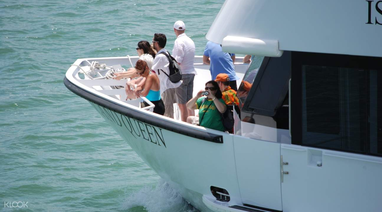 boat along biscayne bay