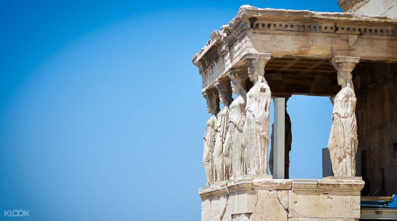 the Erechtheion in the Acropolis