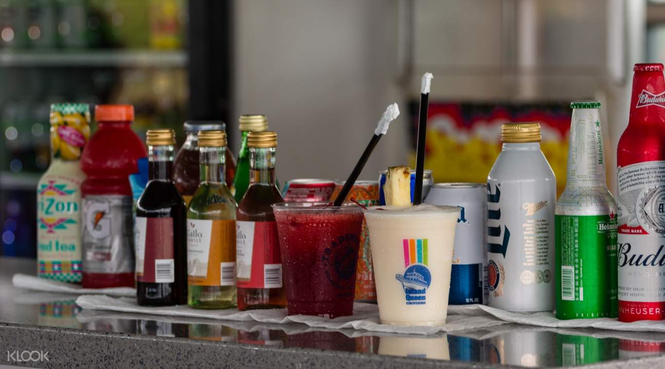 food and beverages on board
