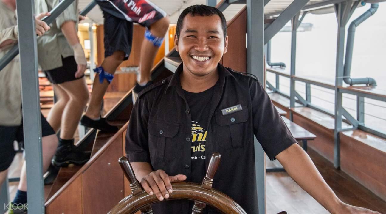 ล่องเรือชมพระอาทิตย์ตกดินในกรุงพนมเปญ