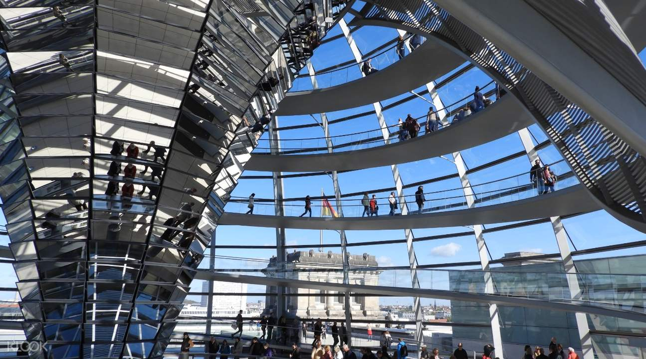 inside the reichstag cupola