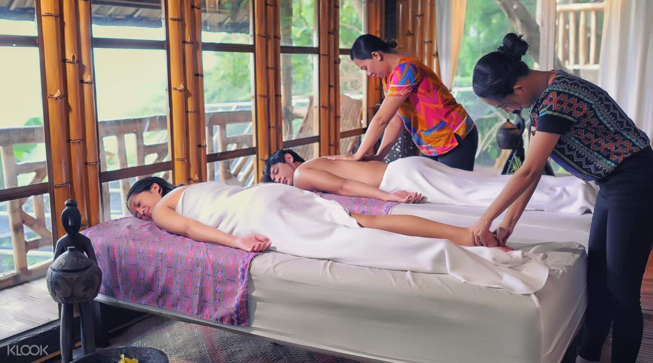 couple enjoying a massage