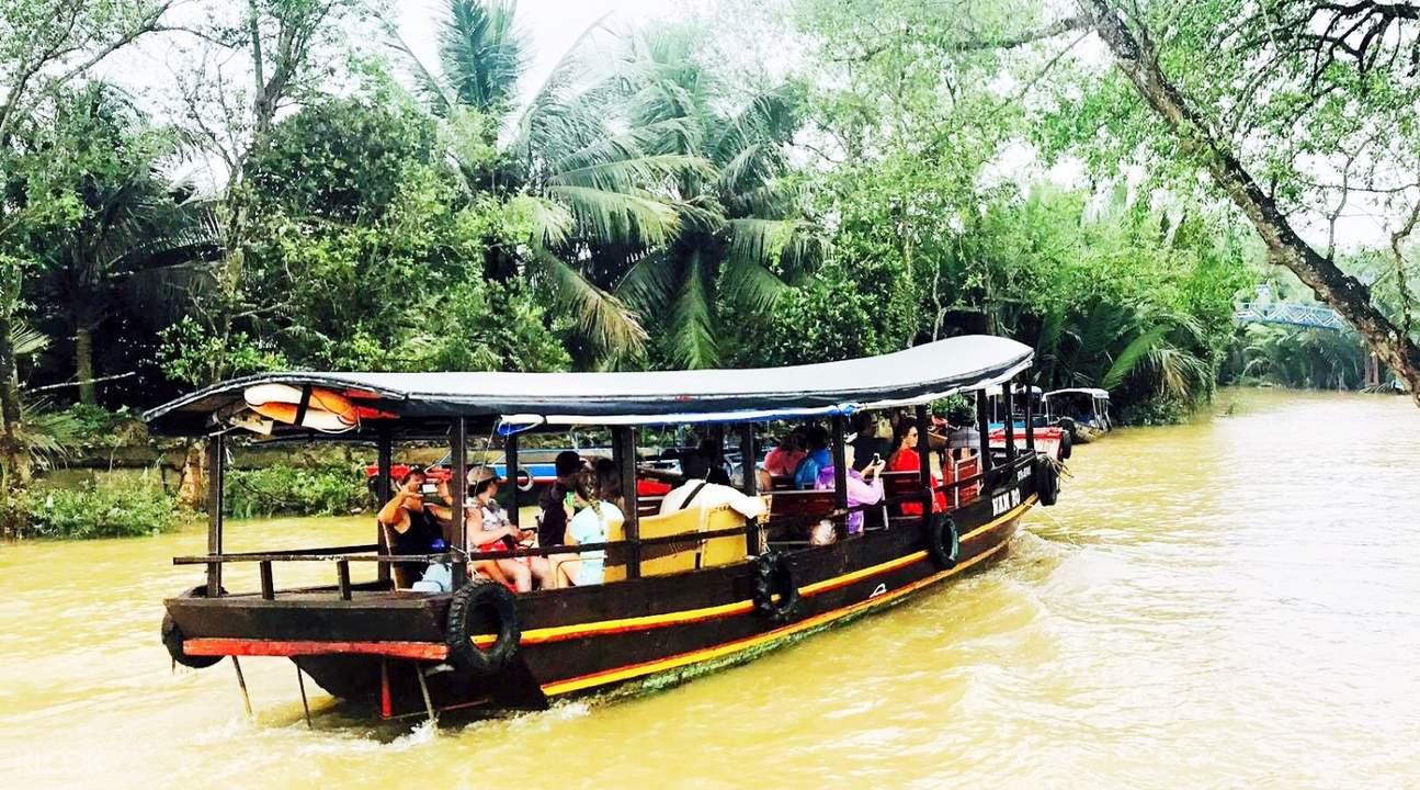 boat along mekong river