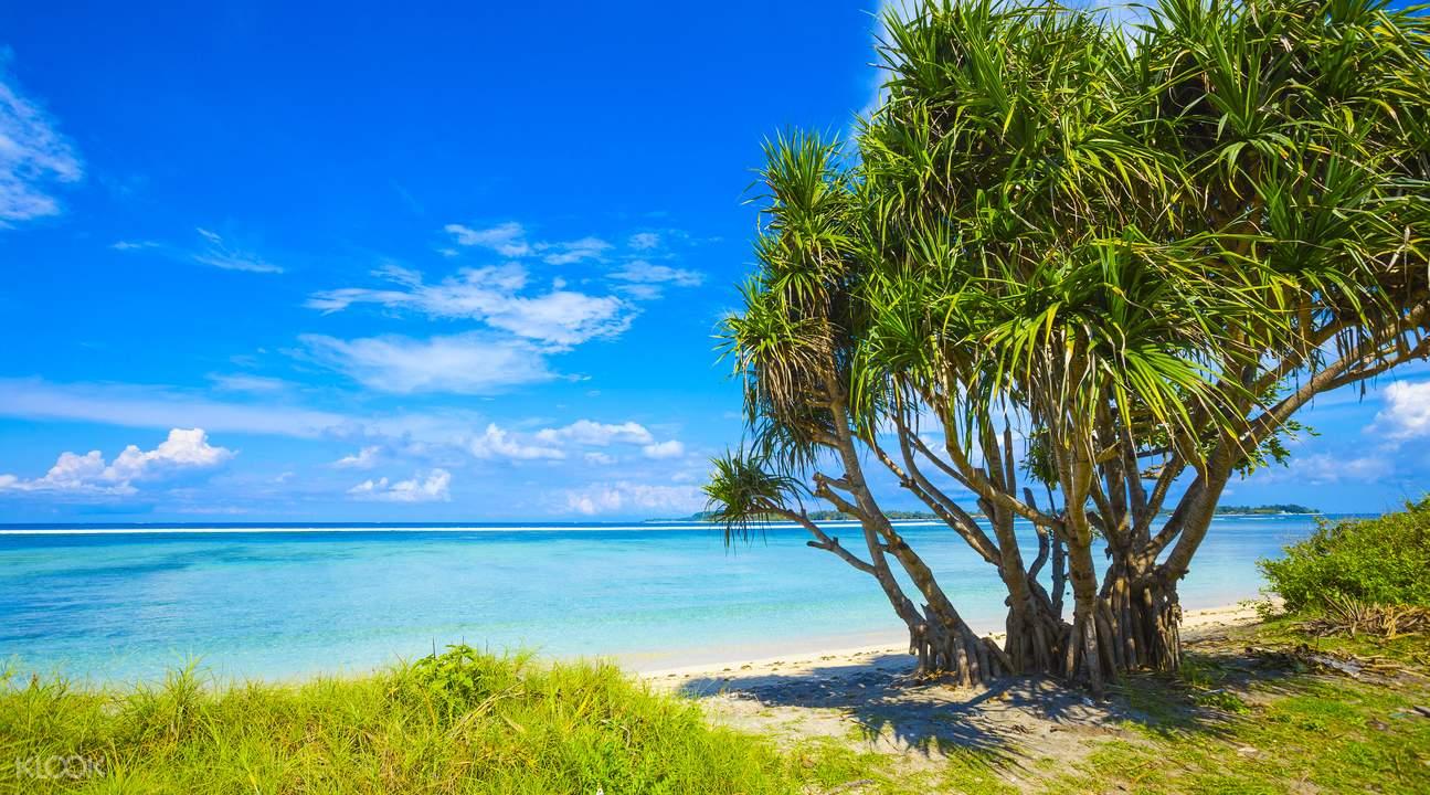Bãi Cát Trắng Trên Đảo Lombok Gili
